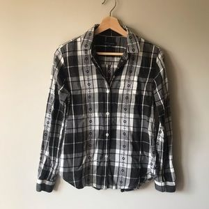 Light flannel button up
